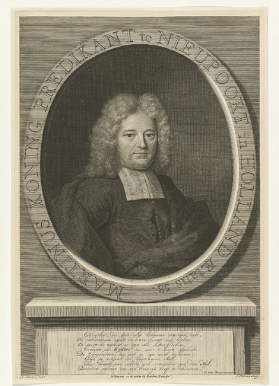 Portret van Martinus Koning