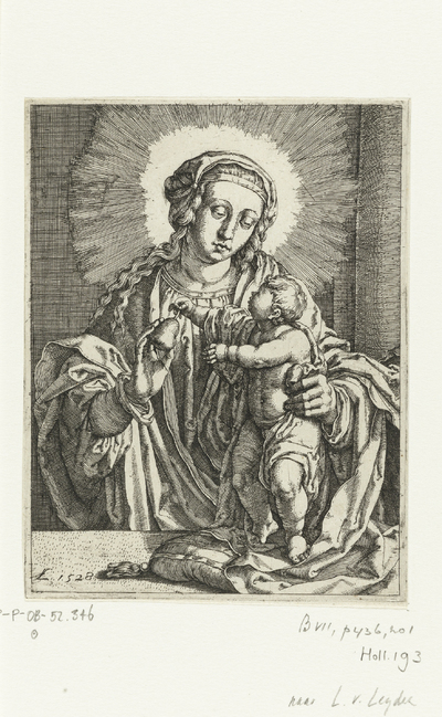 The Virgin Giving the Child a Pear