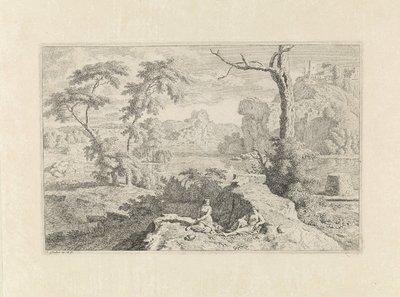 Arcadisch landschap met twee vrouwen; Arcadische landschappen