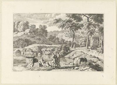Arcadisch landschap met ruïnes; Arcadische landschappen