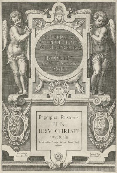 Twee engelen en de vijf wonden van Christus; Passie van Christus; Pręcipua Passionis D.N. Jesu Christi mysteria; Pręcipua Pafsionis D.N. Iesv Christi mysteria
