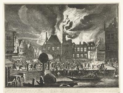 De brand in het Oude Stadhuis van Amsterdam, 1652