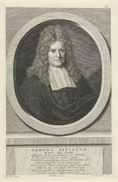 Portret van Samuel Pitiscus
