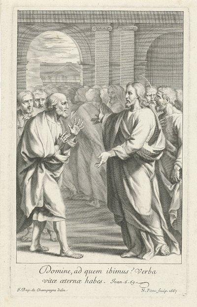 Image from object titled Christus tussen zijn discipelen