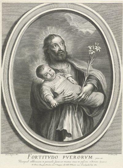 De heilige Jozef met het Christuskind