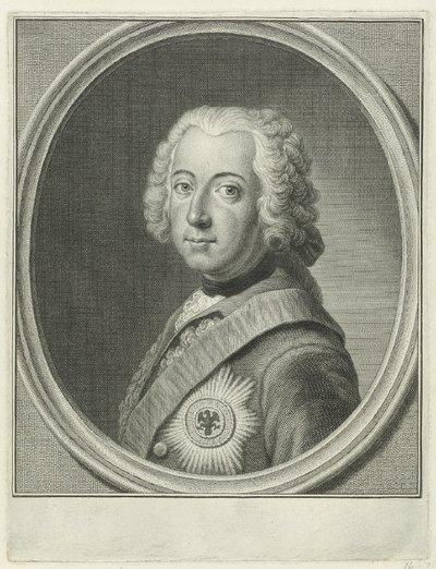 Portret van Frederik II de Grote, koning van Pruisen