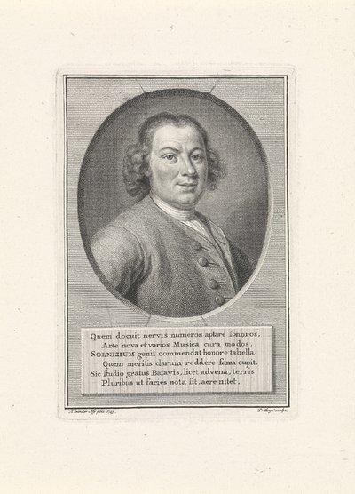 Portret van Anton Wilhelm Solnitz