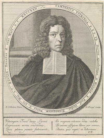 Portret van Campegius Vitringa