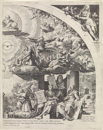 Annunciatie, omgeven door profeten, rechterdeel