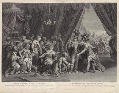 Alexander de Grote bij de familie van Darius; Superatis hostibus regium est abstinere. La moderation est vne seconde victoire.