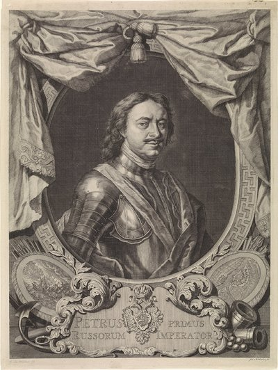Portret van Peter I de Grote, tsaar van Rusland