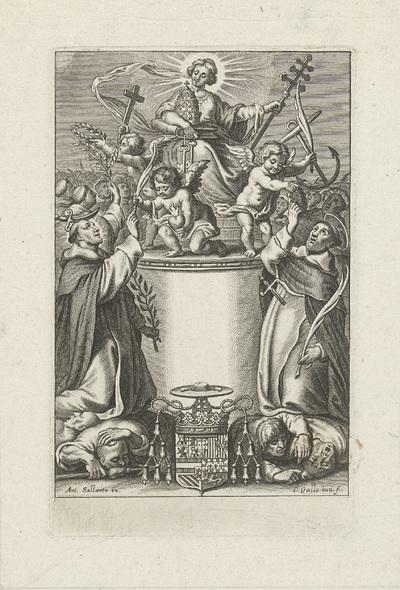 Allegorische titelpagina met twee Dominicaanse martelaren