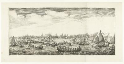 Spelevaart op het IJ, 1638; Feestelijkheden bij het bezoek van Maria de' Medici aan Amsterdam in 1638