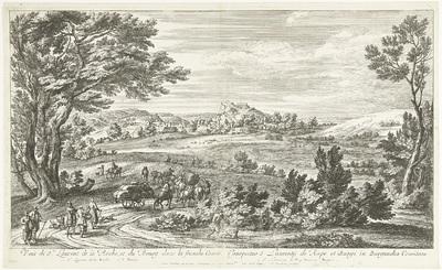 Gezicht op Saint Laurent de la Roche; Veuë de St. Laurent de la Roche, et du Bourg dans la franche Comté