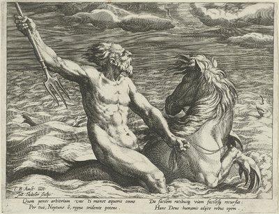 Water gepersonifieerd door de god Neptunus; Mare; De vier elementen als mythologische figuren
