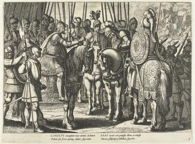 Karel V schenkt genade aan de hertog van Saksen, 1546; Triomfen van Karel V