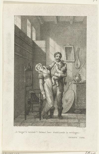 Albrecht Beiling neemt afscheid van vrouw en kind, 1426