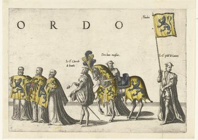 Deel van de optocht, nr. 7; Begrafenisoptocht van keizer Karel V, 1558