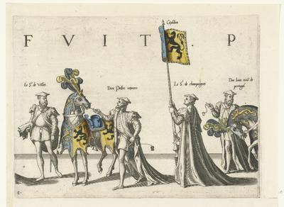 Deel van de optocht, nr. 8; Begrafenisoptocht van keizer Karel V, 1558