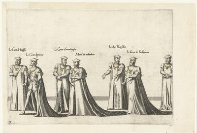 Deel van de optocht, nr. 31; Begrafenisoptocht van keizer Karel V, 1558