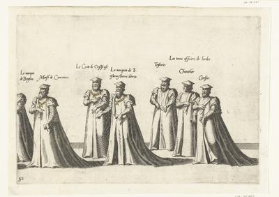 Deel van de optocht, nr. 32; Begrafenisoptocht van keizer Karel V, 1558