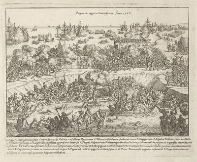 Strijd om de Kauwensteinse dijk, 1585; Pugna in aggere Covenstenio anno 1585