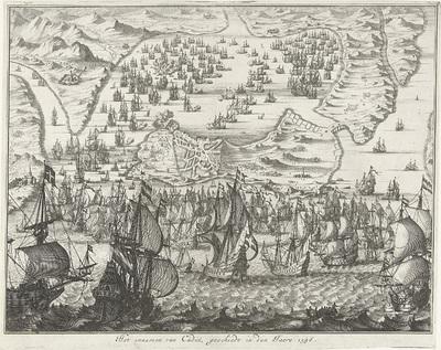 Zeeslag voor Cadiz, 1596; Het innemen van Cadix, geschiedt in den Jaere 1596