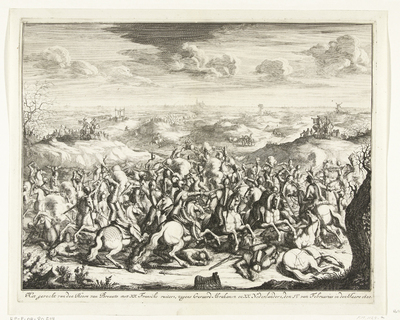 Slag van Lekkerbeetje, 1600; Het gevecht van den Heere van Breaute met XX Fransche ruiters, tegens Geraerd Abrahamsz en XX Nederlanders, den IV van Februarius in den Jaere 1600
