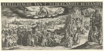Allegorie op het Twaalfjarig Bestand, 1609; Afbeeldinghe van 't Nederlandts Bestandt