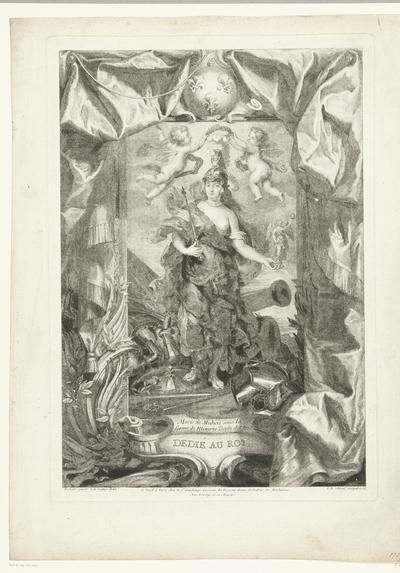 Maria de Médicis als Minerva; Marie de Medicis sous la forme de Minerve Déesse des Arts