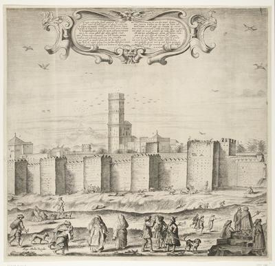 Het paleis van de sultan van Marokko (plaat 3), 1640-1641; Palatium Magni Regis Maroci, in Barbaria