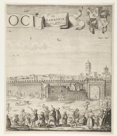 Het paleis van de sultan van Marokko (plaat 5), 1640-1641; Palatium Magni Regis Maroci, in Barbaria