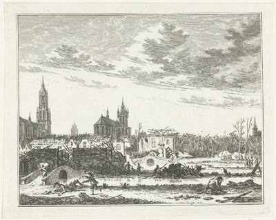 De verwoesting in Delft na de ontploffing van het buskruitmagazijn op 12 oktober 1654
