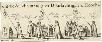 Begrafenisoptocht van Willem Frederik, graaf van Nassau-Dietz (blad 4), 1665; Rouw-Staetelijcke Lijk-pracht in de Uyt-Vaert en Begraefenisse van het ont-zielde Lichaem van (...) Wilhelm Frederich (...) Overleden binnen...
