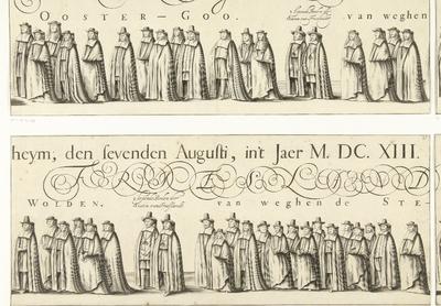 Begrafenisoptocht van Willem Frederik, graaf van Nassau-Dietz (blad 17), 1665; Rouw-Staetelijcke Lijk-pracht in de Uyt-Vaert en Begraefenisse van het ont-zielde Lichaem van (...) Wilhelm Frederich (...) Overleden binnen...
