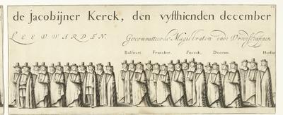 Begrafenisoptocht van Willem Frederik, graaf van Nassau-Dietz (blad 22), 1665; Rouw-Staetelijcke Lijk-pracht in de Uyt-Vaert en Begraefenisse van het ont-zielde Lichaem van (...) Wilhelm Frederich (...) Overleden binnen...