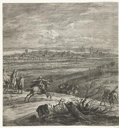 Het Franse leger voor Yperen (middenblad), 1678