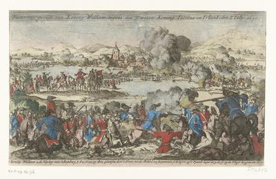 Slag aan de Boyne, 1690; Victorieus gevegt van Koning William, tegens den gewesen Koning Jacobus in Iralnd, den 8 July 1690