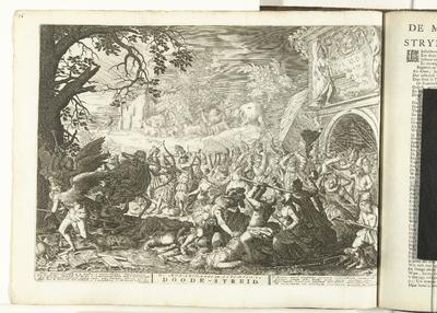 Dood vecht tegen de mensheid, ca. 1707-1708; De Monarchaale en Algemeene Doode-Streid; De Standvastige Monarchye des Doods / 't Lusthof van Momus