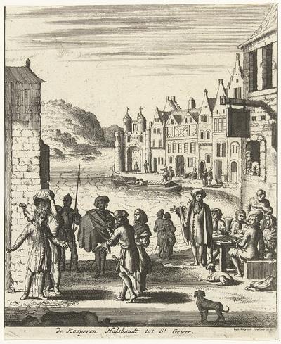 De koperen halsband te Sankt Goar, ca. 1680; de kooperen Halsbandt tot St. Gewer
