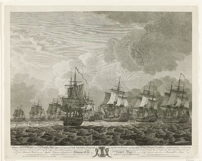 Zeeslag bij Doggersbank, 1781; The Representation of the Action between the British Fleet under the Command of Vice Admiral Parker and the Dutch Fleet (...)