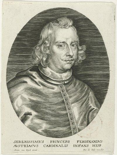 Busteportret van Ferdinand van Oostenrijk; Theatrum pontificum, imperatorum, regum, ducum (...)