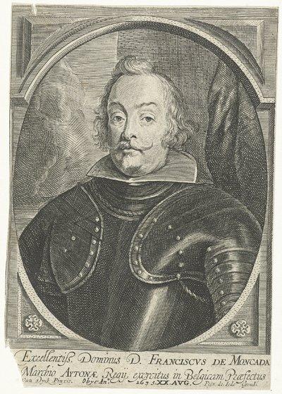Portret van Francisco de Moncada; Theatrum pontificum, imperatorum, regum, ducum (...)