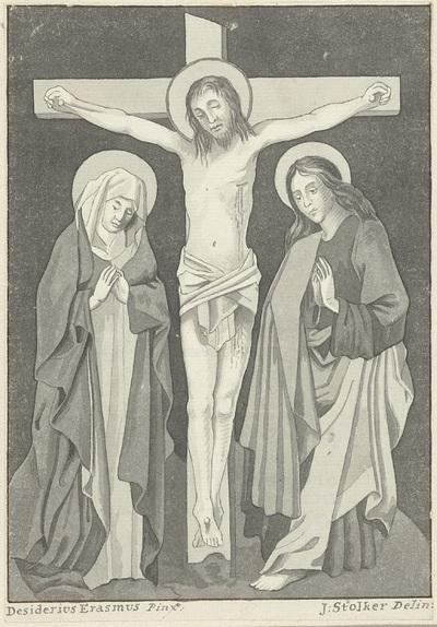 Christus aan het kruis met Maria en Johannes