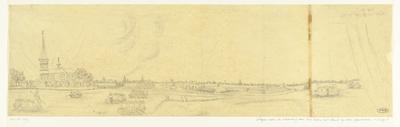 Glasraam met het vertrek van de Spanjaarden uit Zoeterwoude, 1574