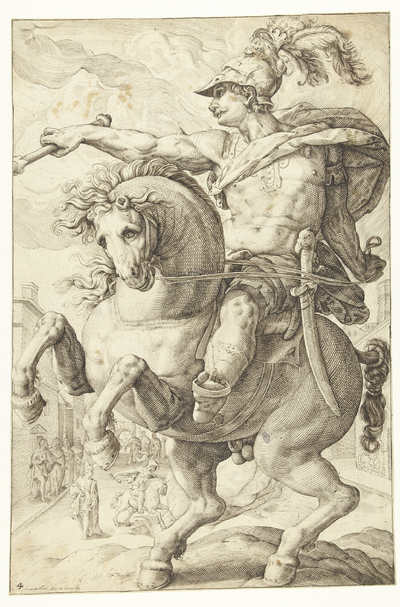 Image from object titled Marcus Curtius; Romeinse helden