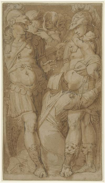Alexander begenadigt de familie van Darius