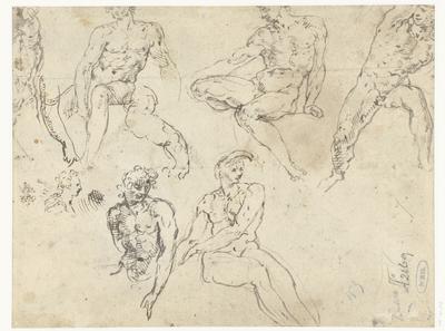 Studies van zittende naakte mannen, de Ignudi
