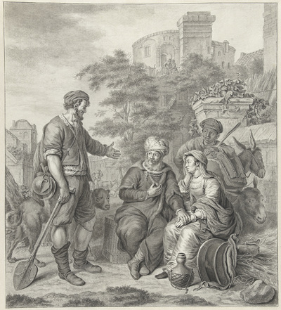 De Leviet met zijn bijvrouw wordt overnachting aangeboden in Gibea