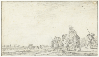 Image from object titled Landschap met drie ruiters